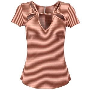 Free People Frenchie cut out tee. Medium